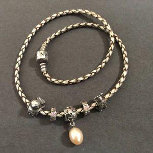Authentic Pandora Bracelet With 5 Charms🎀